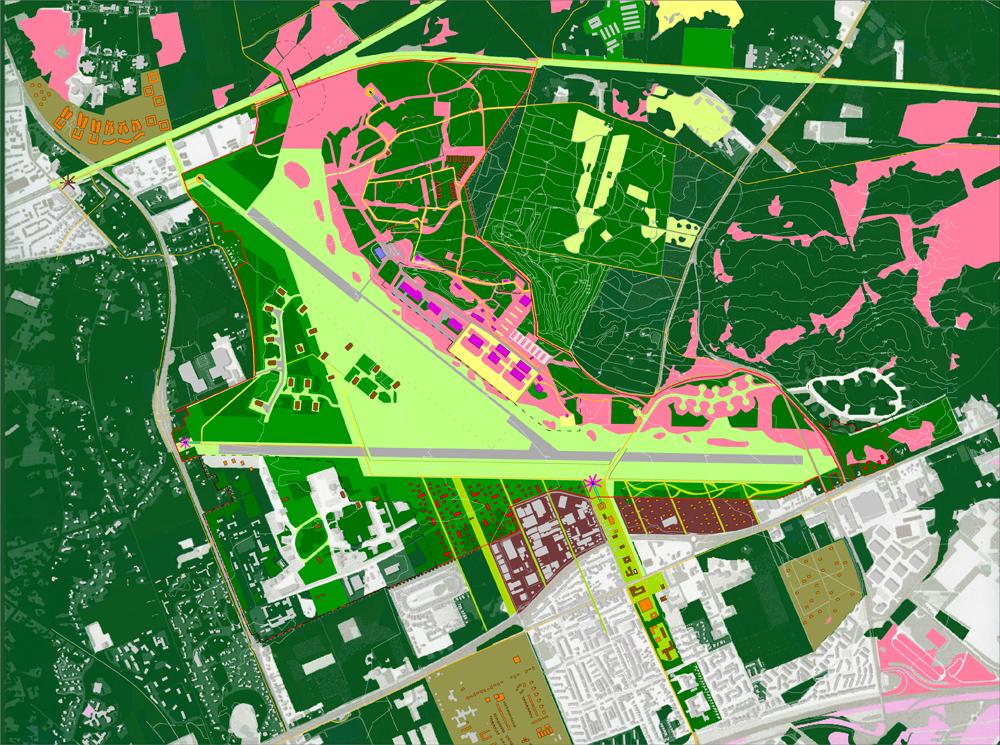HOSPER-vliegbasis Soesterberg-masterplankaart