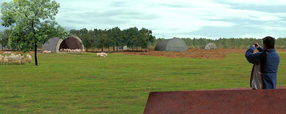 HOSPER-vliegbasis Soesterberg-shelter als schaapskooi