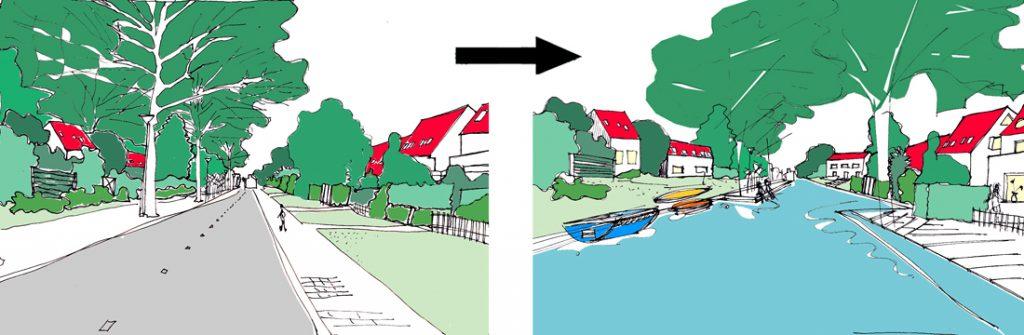 HOSPER_Watervrijstaat Gaasperdam-transformatie straat