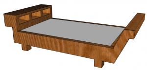 Fu Factory-Drakar bed-3d model