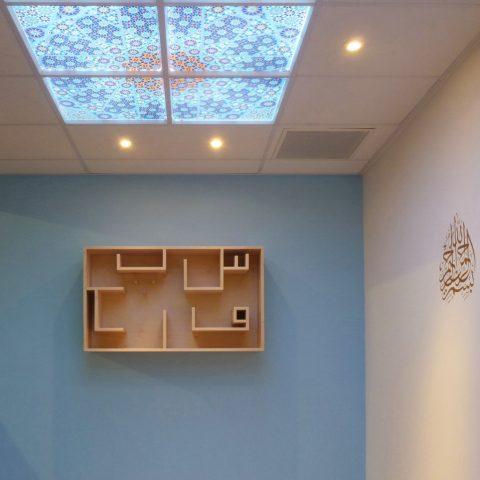 kasten islamitische gebedsruimte-mannen met interieur-v